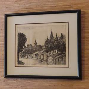 Auction Thumbnail for: Lot 39 - Signed, Antique Limited Edition Etching – Artist not Identified