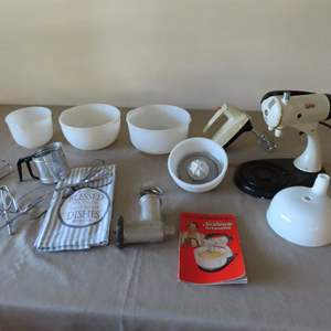 Auction Thumbnail for: Lot 59 - Sunbeam Mixmaster with Extras