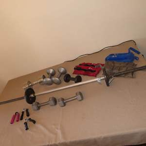 Auction Thumbnail for: Lot 87 - Dumbbells, Ankle Weights & More
