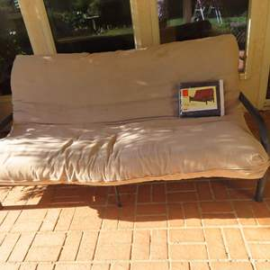 Auction Thumbnail for: Lot 88 - Futon with Metal Frame and New Cover