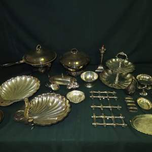 Auction Thumbnail for: Lot 37 - Plated Silver Entertainer's Lot