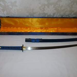 Auction Thumbnail for: Lot 27 - Reproduction Katana Sword - in Carrying Case