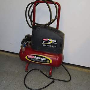Auction Thumbnail for: Lot 37 - Mini Air Compressor by Coleman - works Great