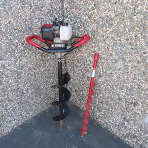 Auction Thumbnail for: Lot 49 - Gas Powered 2 Stroke Post Hole Digger – Project
