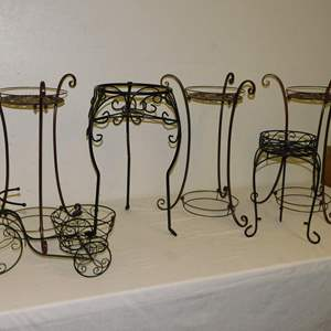 Auction Thumbnail for: Lot 20 - Metal Plant Stands