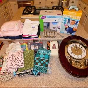 Auction Thumbnail for: Lot 60 - 'Its a Small World' Clock, NIB Baby Monitor & More