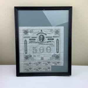 Auction Thumbnail for: Lot 11 - Civil War era Confederate Bond  - $500.00