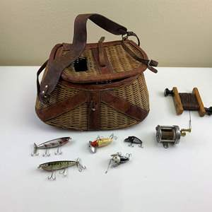 Auction Thumbnail for: Lot 19 - Antique Fishing Gear