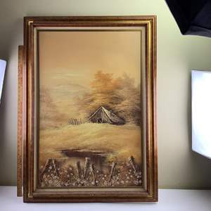 Auction Thumbnail for: Lot 42 - Large Original Oil Painting - Unsigned