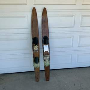 Auction Thumbnail for: Lot 52 - Vintage Water Skis