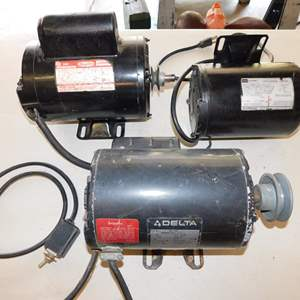 Auction Thumbnail for: Lot 39 - Three 115V Electric Motors - All Working