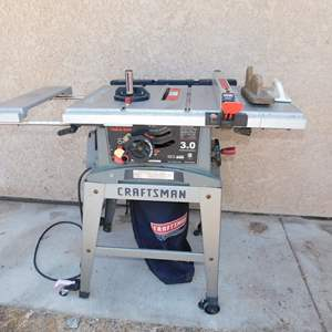 Auction Thumbnail for: Lot 65 - Lightweight Craftsman Table Saw – with Extensions