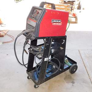 Auction Thumbnail for: Lot 107 - Lincoln 155 Wire Welder on Cart