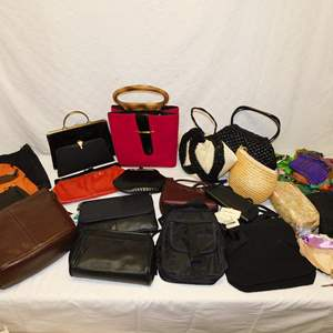 Auction Thumbnail for: Lot 33 - Purses, Bags and Scarves - Old and New