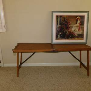 Auction Thumbnail for: Lot 133 - Antique Fold-Out Table, and Victorian Style Print