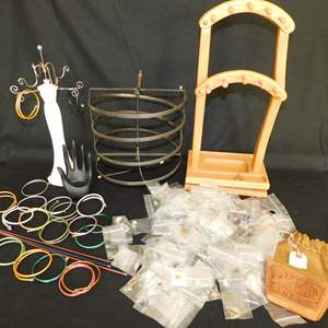 Auction Thumbnail for: Lot 2 - Charms, Knitting Needle Bracelets, Jewelry Organizers and More