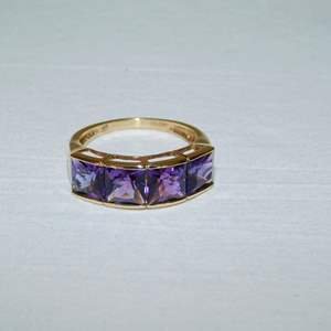 Auction Thumbnail for: Lot 50 - 14K Gold Ring with Amethyst