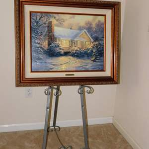 Auction Thumbnail for: Lot 57 – Signed Gallery Proof by Thomas Kinkade – Christmas Cottage