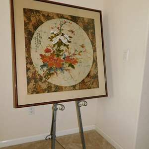 Auction Thumbnail for: Lot 65 - Framed Batik Design - Signed