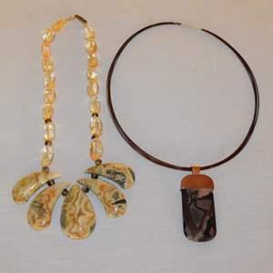 Auction Thumbnail for: Lot 111 - Jasper Necklaces
