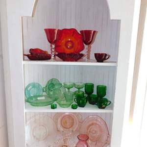Auction Thumbnail for: Lot 35 - Antique Colored Glass - with Fenton & More
