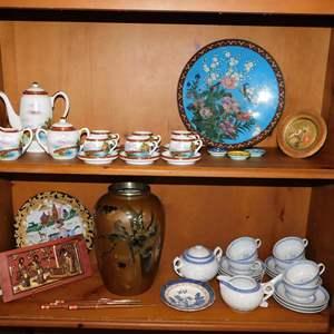 Auction Thumbnail for: Lot 63 - Handmade Japanese Tea Set & Asian Decor