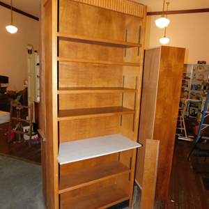 Auction Thumbnail for: Lot 168 - Tall Bookshelf with Added Middle Shelf