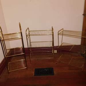 Auction Thumbnail for: Lot 191 - 3 Vintage Metal Stands