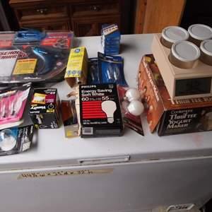 Auction Thumbnail for: Lot 25 - Yogurt Maker, Fastening Kit, and More