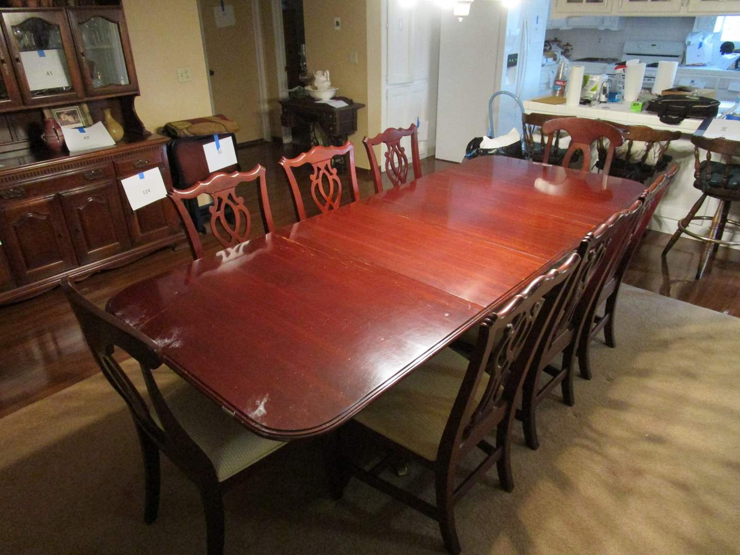 Lot # 257 - Dining Room Table with 8 Chairs (main image)