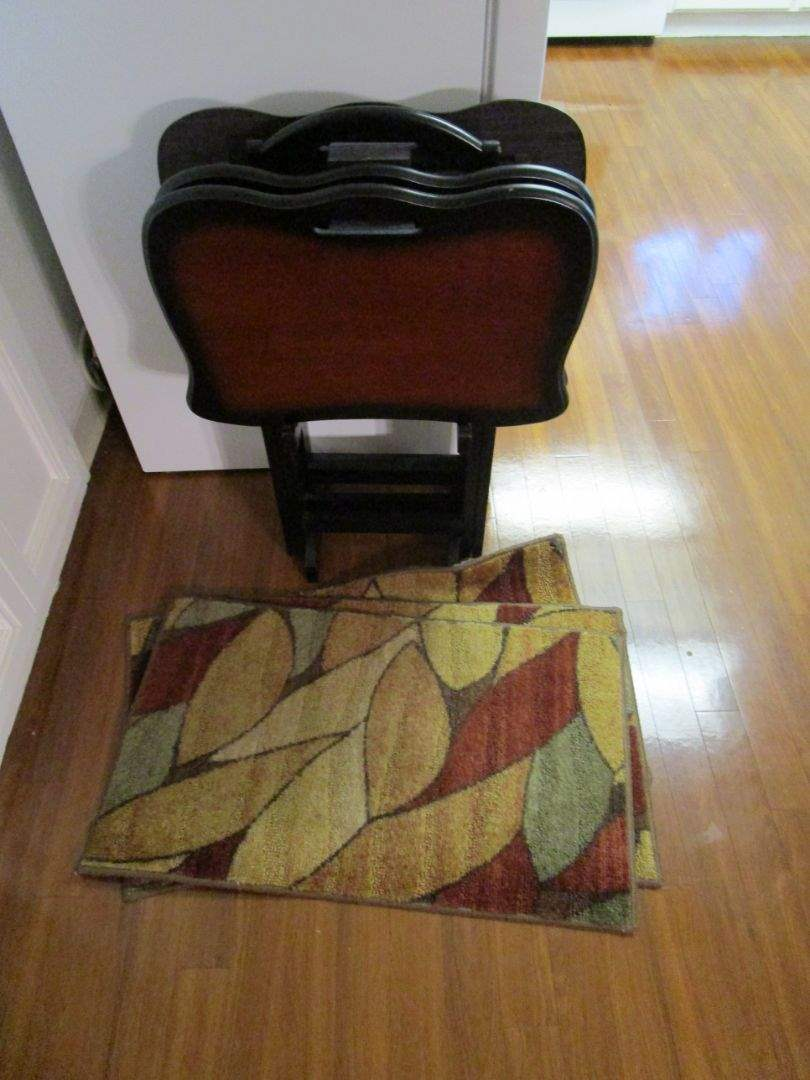 Lot # 82 - TV Trays and Floor Mats (main image)