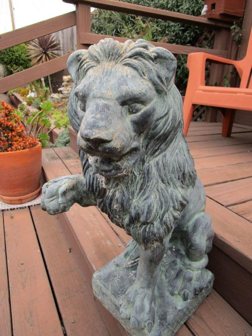 Lot # 242 - Lion Garden Statue (Left Side) (main image)