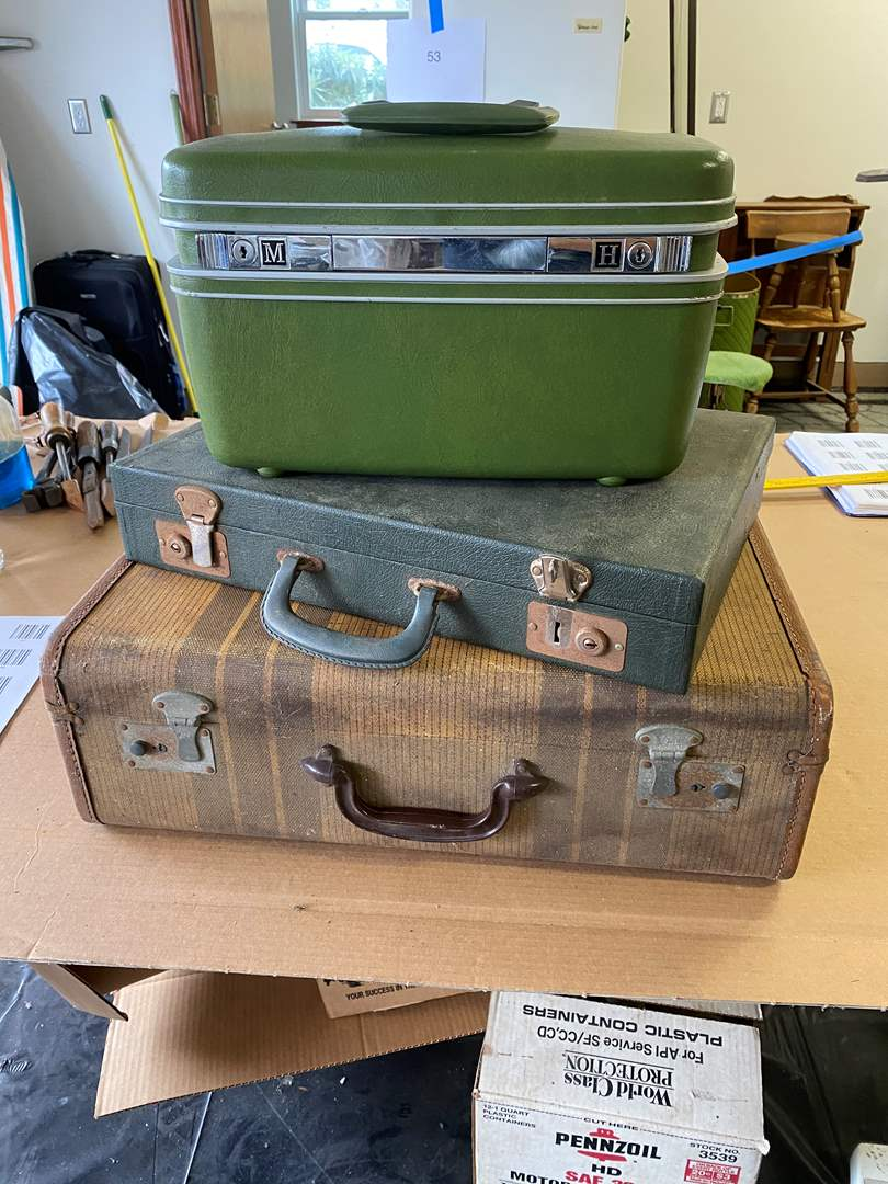Lot # 74 - TWO SUITCASES & A BREIF CASE (main image)