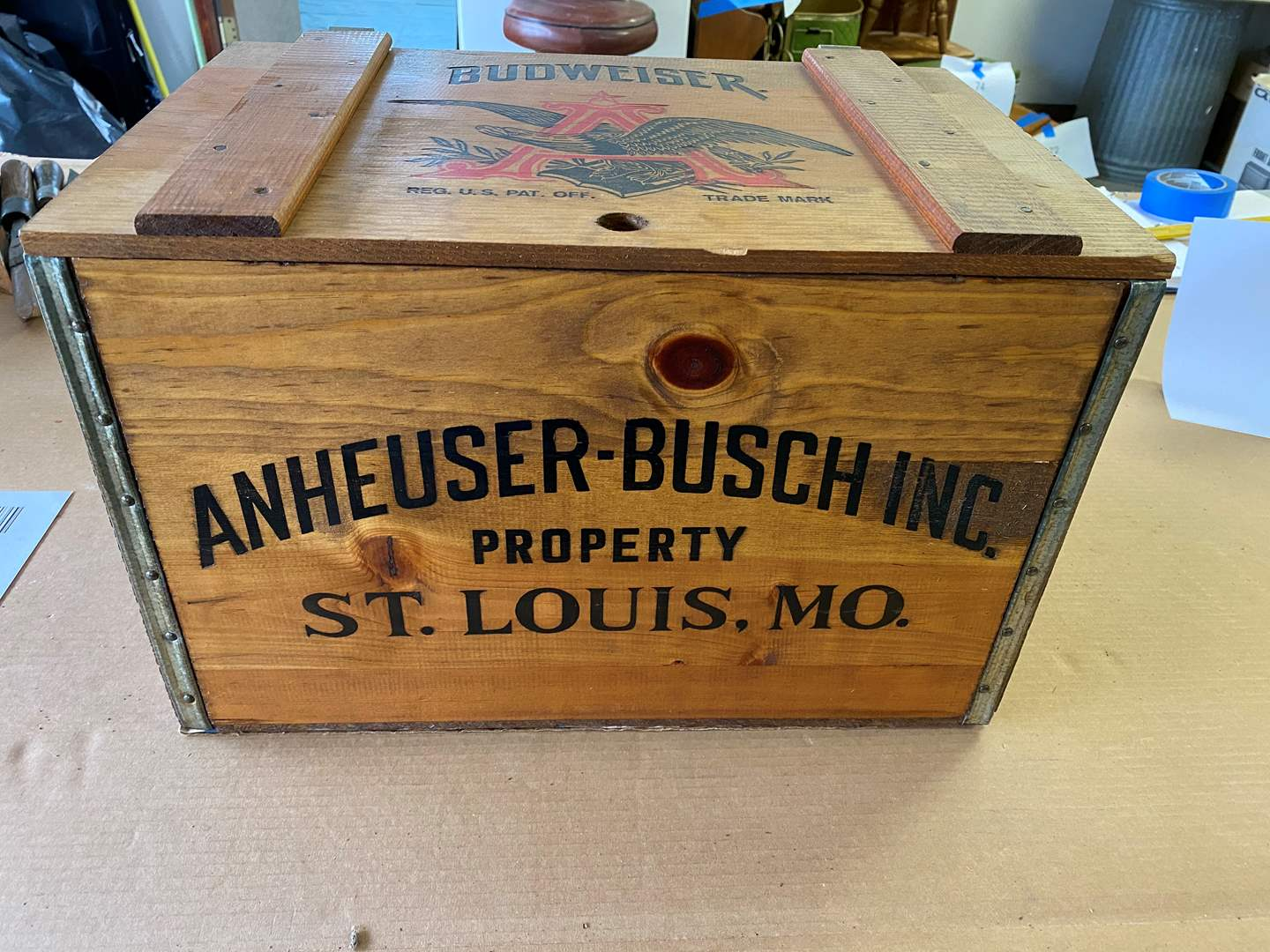 Lot # 75 - VINTAGE ANHEUSER BUSCH CRATE (main image)