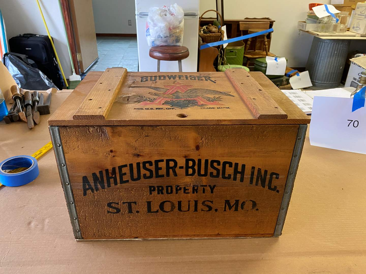Lot # 76 - VINTAGE ANHEUSER BUSCH CRATE (main image)