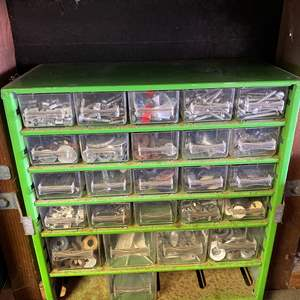 Auction Thumbnail for: Lot # 153 - SEVERAL SMALL PARTS ORGANIZERS FULL OF GOODIES!!!!