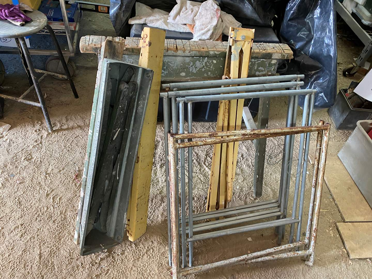 Lot # 356 - FOLDING SAW HORSES AND STANDS (main image)