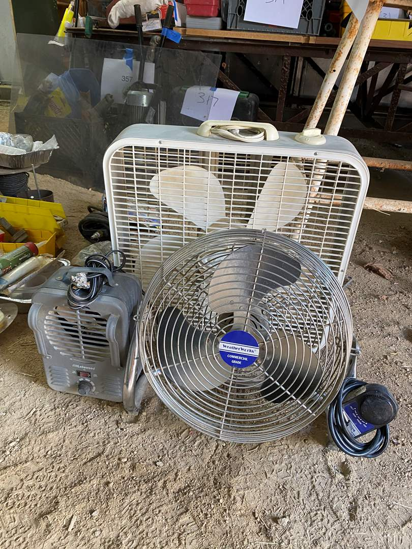 Lot # 226 - FANS AND HEATER (main image)