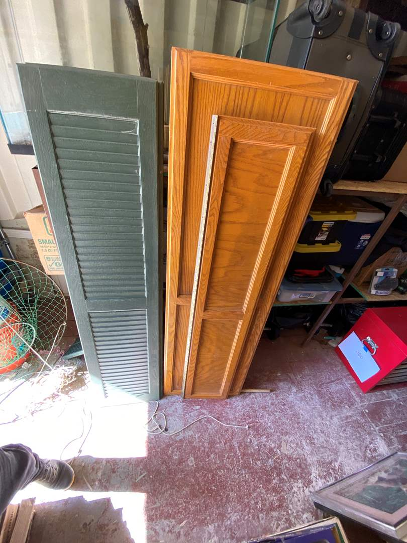 Lot # 381 - CABINET DOORS AND FAUX SHUTTERS  (main image)