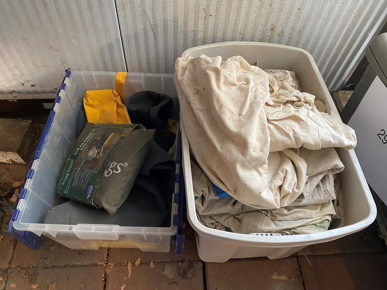 Lot # 359 - RAIN GEAR, WADERS AND DROP CLOTHS   (main image)