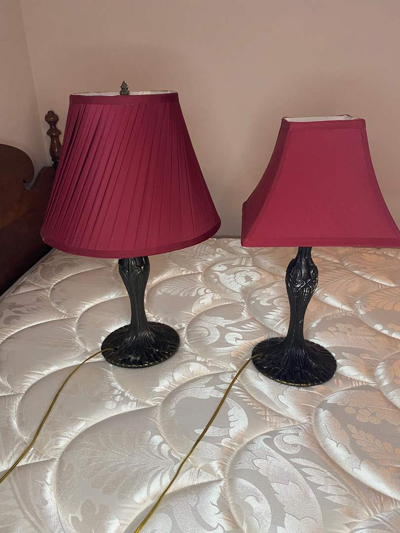 Lot # 25 - MATCHING METAL BASE LAMPS (main image)