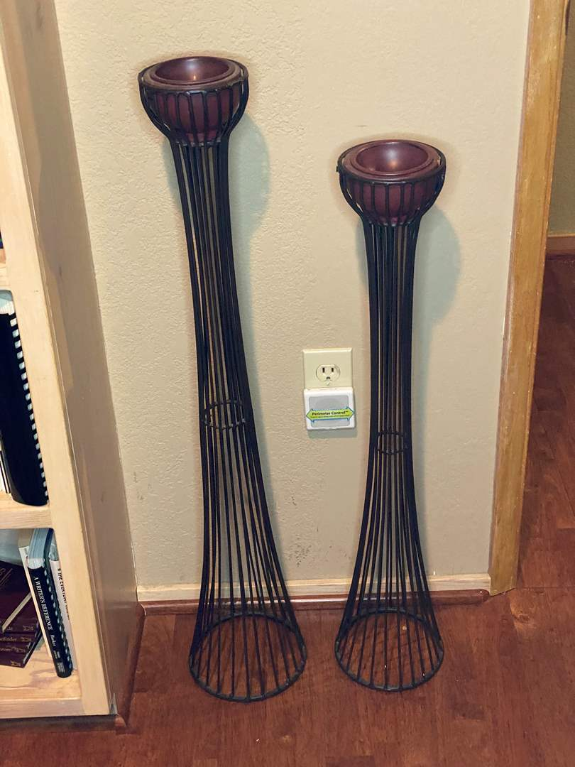 Lot # 36 - TALL CANDLE HOLDERS (main image)