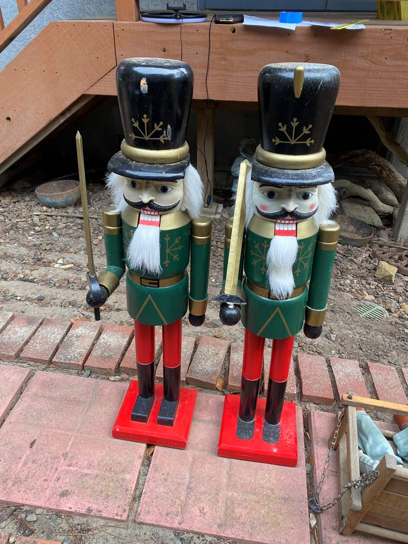 Lot # 42 - PAIR OF LARGE WOODEN NUT CRACKERS (main image)