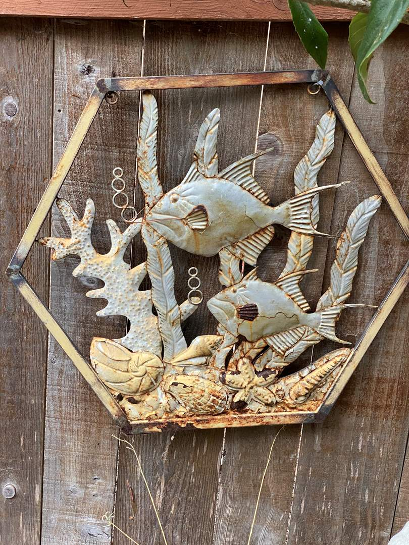 Lot # 60 - FISH METAL WALL YARD ART (main image)