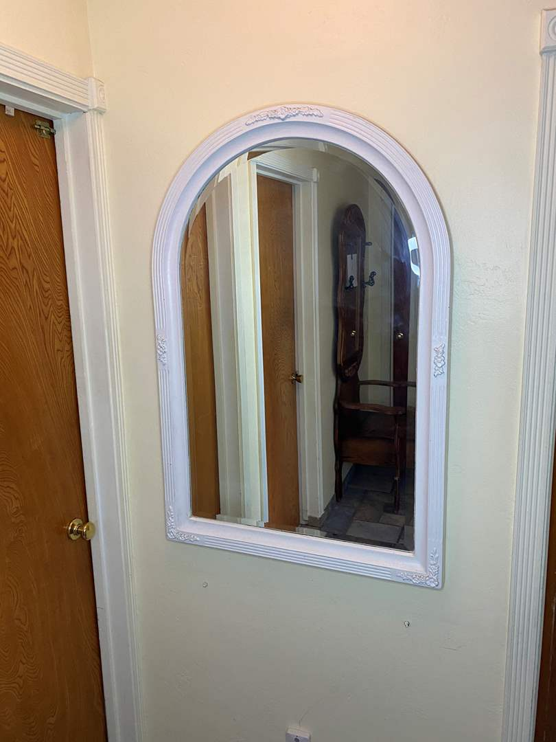 Lot # 6 - ANTIQUE BEVELED MIRROR (main image)