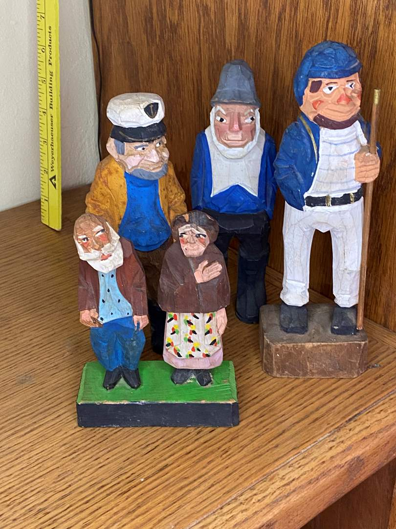 Lot # 41 - WOODEN FIGURINES (main image)