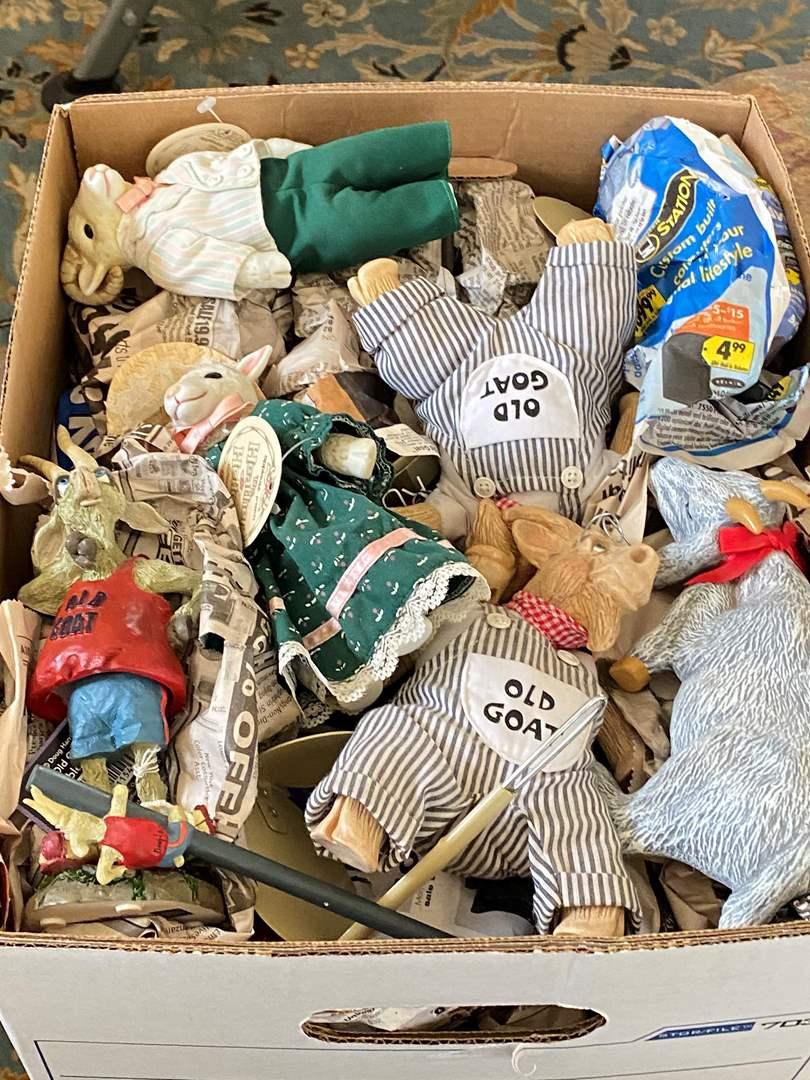 Lot # 70 - BOX OF GOAT THEMED ITEMS (main image)