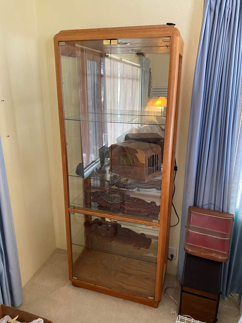 Lot # 85 - LIGHTED CURIO CABINET (main image)