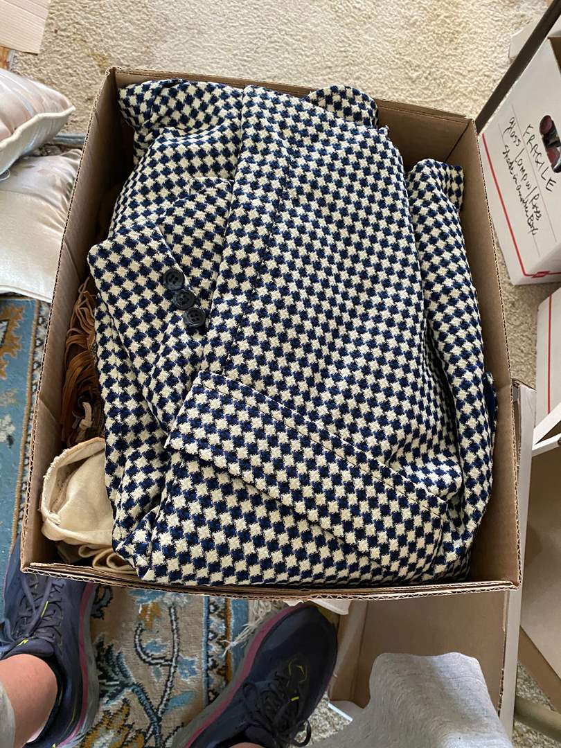 Lot # 110 - BOX OF VINTAGE CLOTHES (main image)