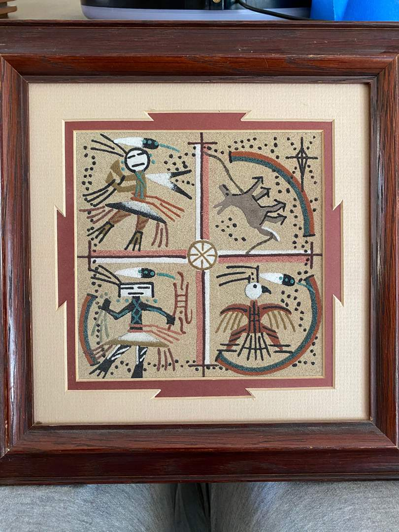 Lot # 115 - SAND PAINTING (main image)